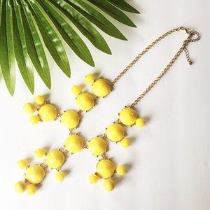 Bubble Chain Necklace Chunky Bib Statement Yellow